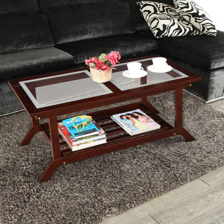 Patrick Solid Wood Center Table in Brown Colour by HomeTown