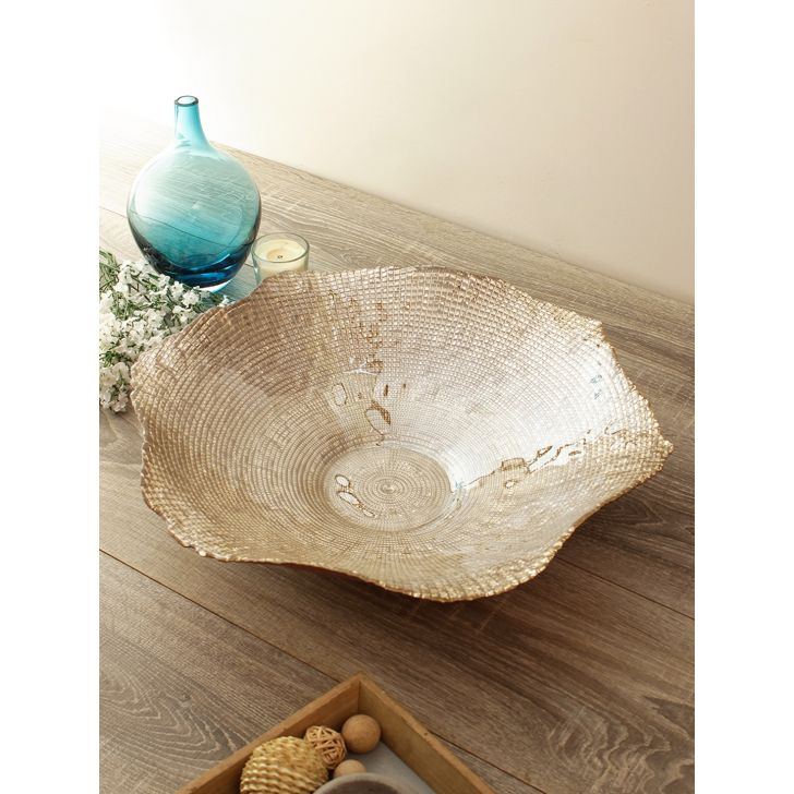 Jordan Infinity Glass Platter Glass Table D