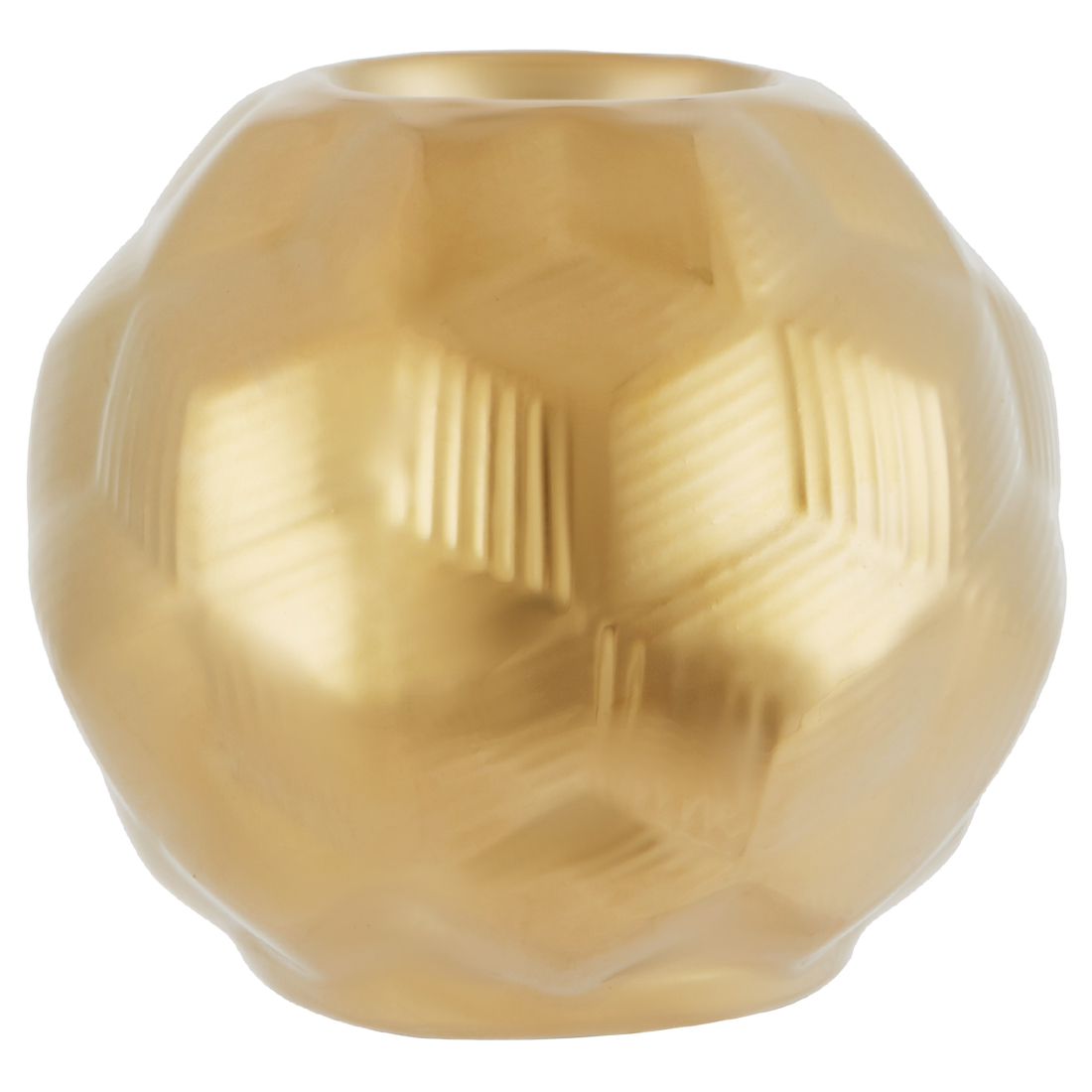 Blake Sphere C/H Shny Gld Sm M18025 Ceramic Table D in Gold Colour by Living Essence