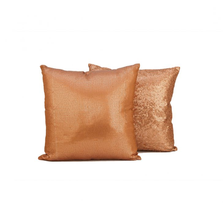 Shimera Copper Polyester Filled Cushions in Copper Colour by Living Essence