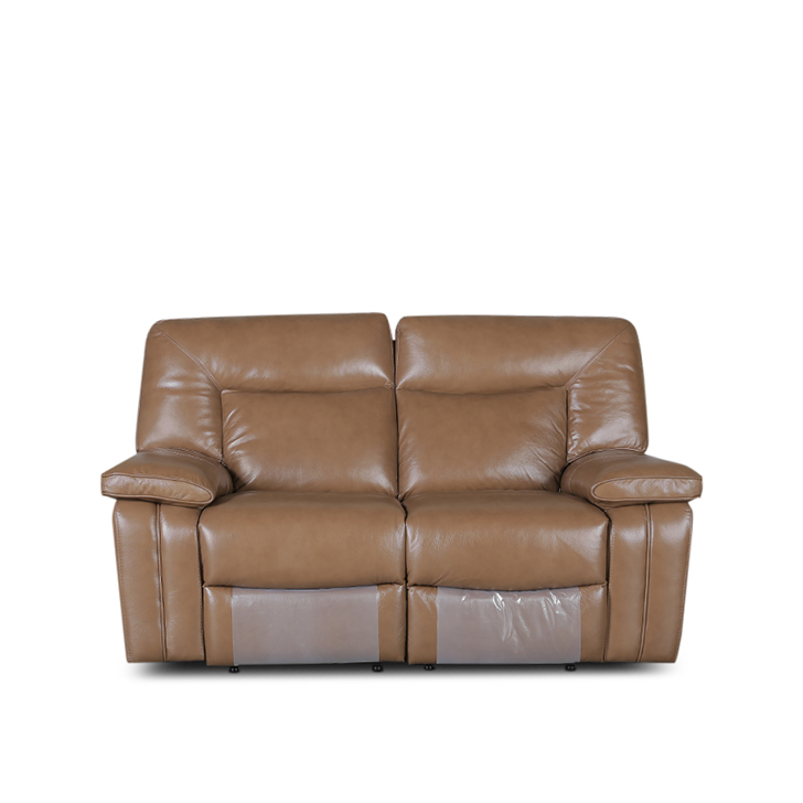 Indulge Half Leather Two Seater Recliner in Brown Colour by HomeTown