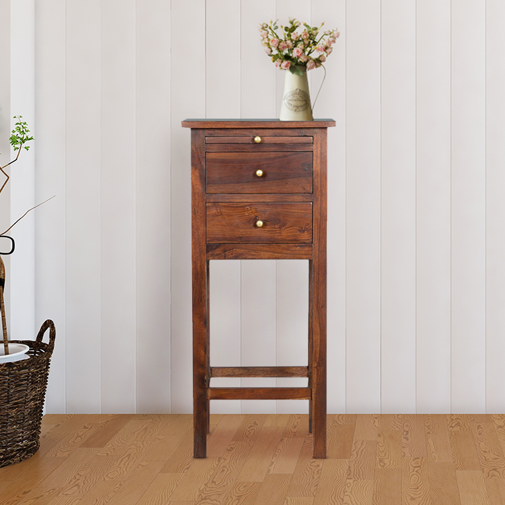 Hope Solid Wood Magazine Rack in Brown Colour by HomeTown