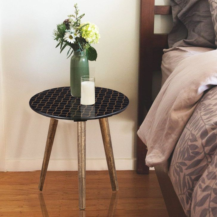Ardina Engineered Wood Side Table in Dark Blue Colour by HomeTown