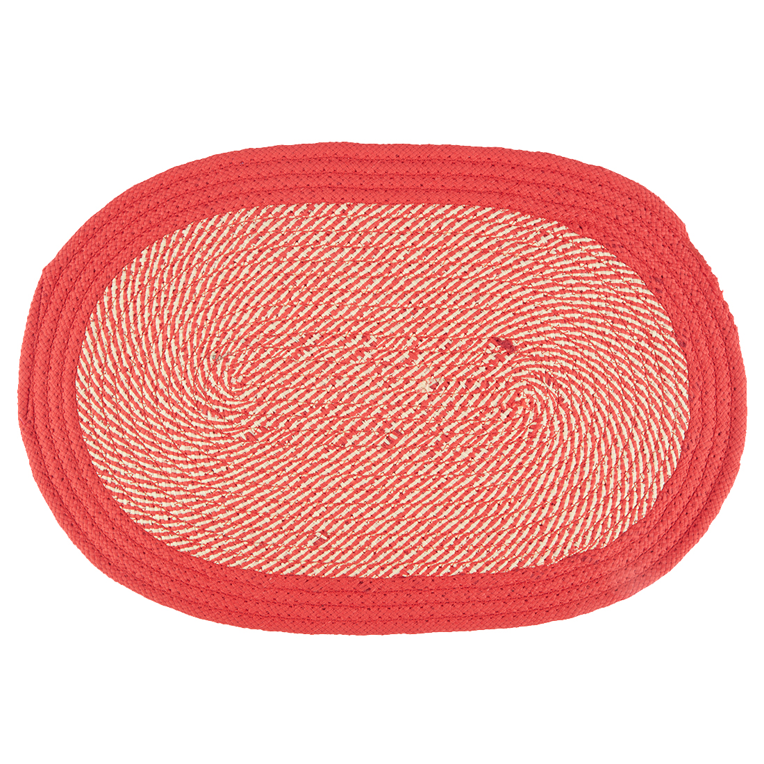 Briaded Polypropylene Mats & Rugs in Red Colour by Living Essence