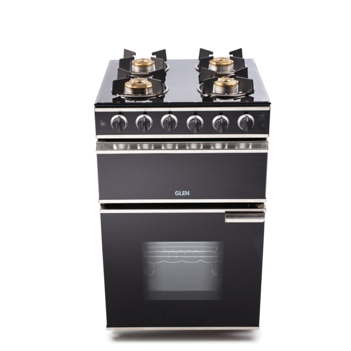 Glen 4 Burner Glass Gas Cooking Range 2014 Auto Ignition by Glen
