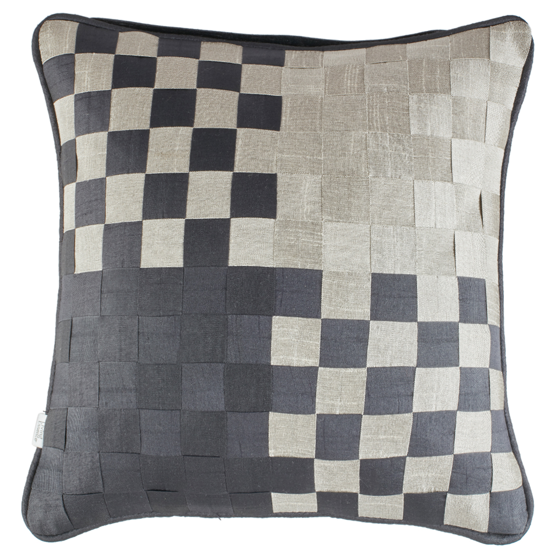 Basket Polyester Cushion Covers in Black Colour by Living Essence