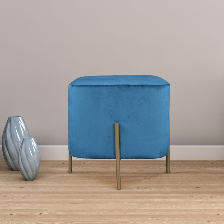 Lowie Metal Ottoman in Teal Colour by HomeTown