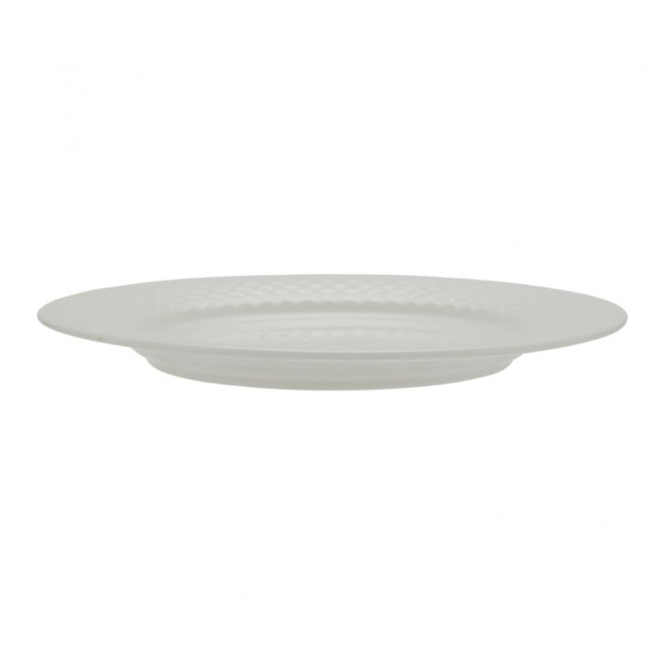 Ripple Small Plate Ceramic Plates in White Colour by Living Essence