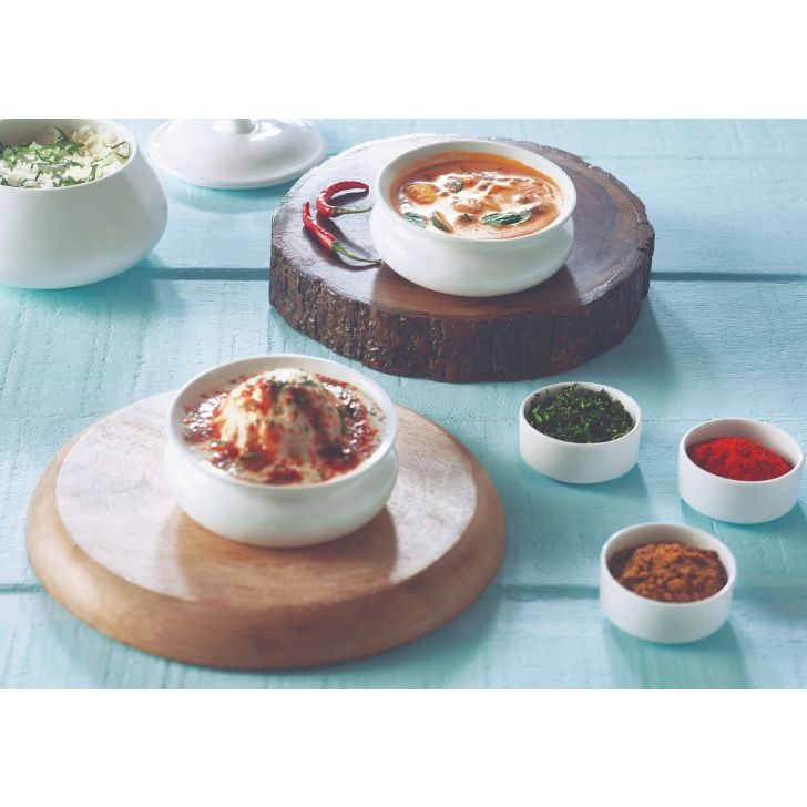 Traditional Handi Set Ceramic Serving Sets in White Colour by Songbird