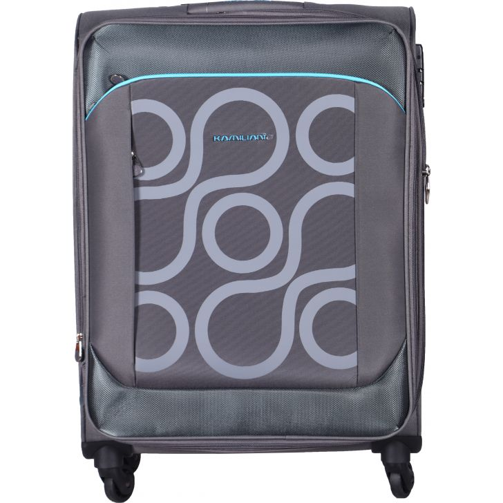 KAM HARITA PolYester Soft Trolley in Grey Colour by Kamiliant by American Tourister