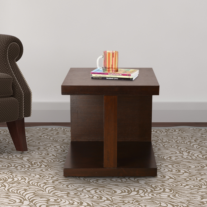 Prestige Solid Wood End Table in Brown Colour by HomeTown