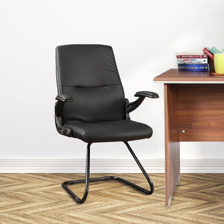 Antonio Fabric Office Chair in Black Colour by HomeTown