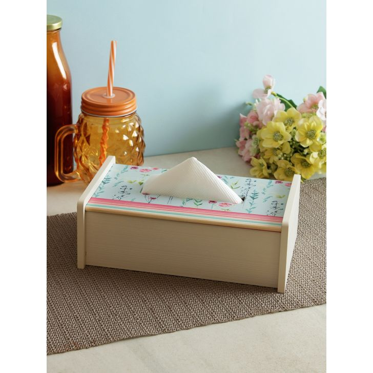 Living essence Wood Tissue holder in Multi Colour by Living Essence