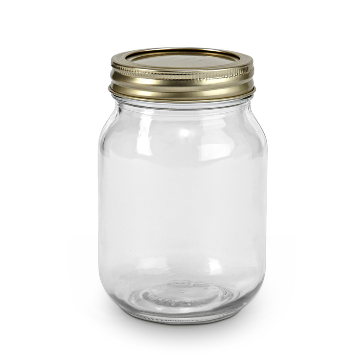 Mason Jar With Flower Lid And Straw Glass Glass Bottles in Transparent Colour by Living Essence