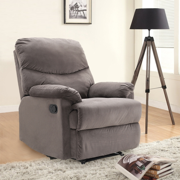 Daniel Fabric Single Seater Recliner in Mocha Color by HomeTown