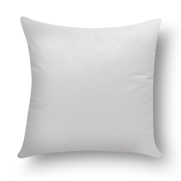 Solid Square Cushion Filler White Polyester Cushion Fillers in White Colour by Living Essence