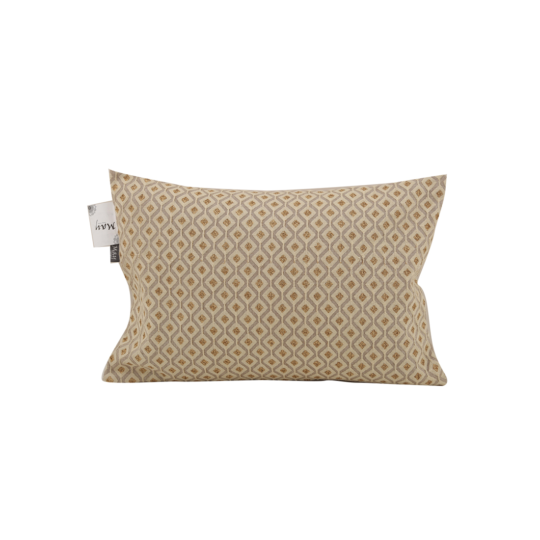 Dimora Beige Gold Cotton Cushion Covers in Beige Gold Colour by Living Essence
