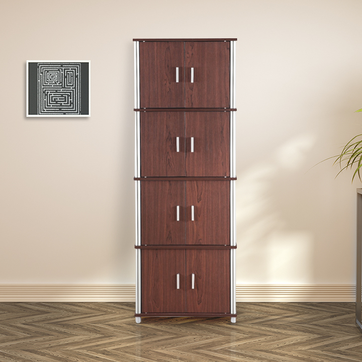 Jacob Engineered Wood Multipurpose Cabinet in Cherry Brown & Walnut Colour by HomeTown