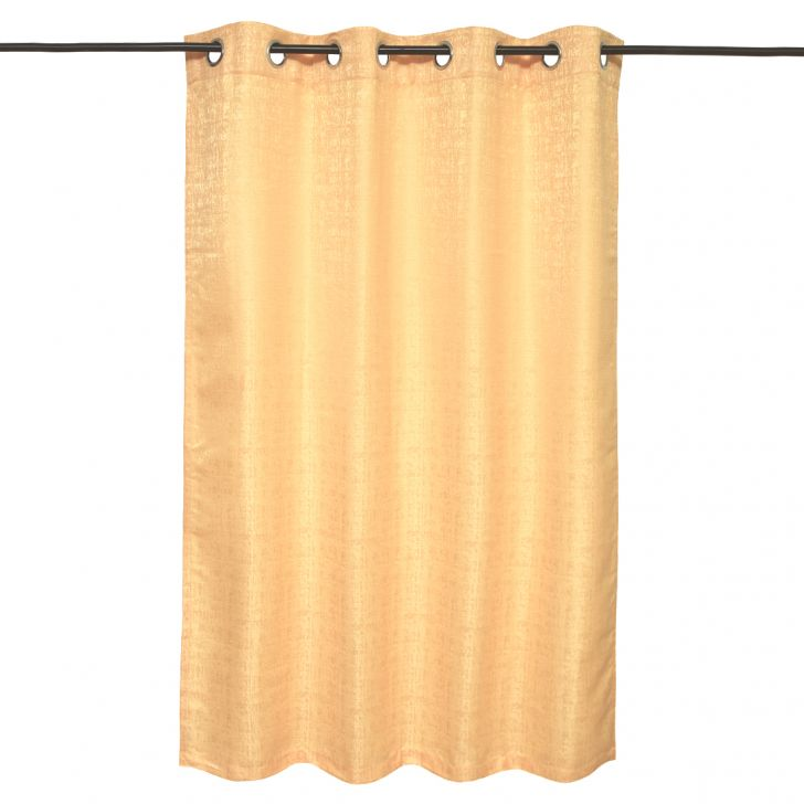 Nora  Set Of 2 Semi Blackout Window Curtain 130X160 CM in Mustard Colour by Living Essence