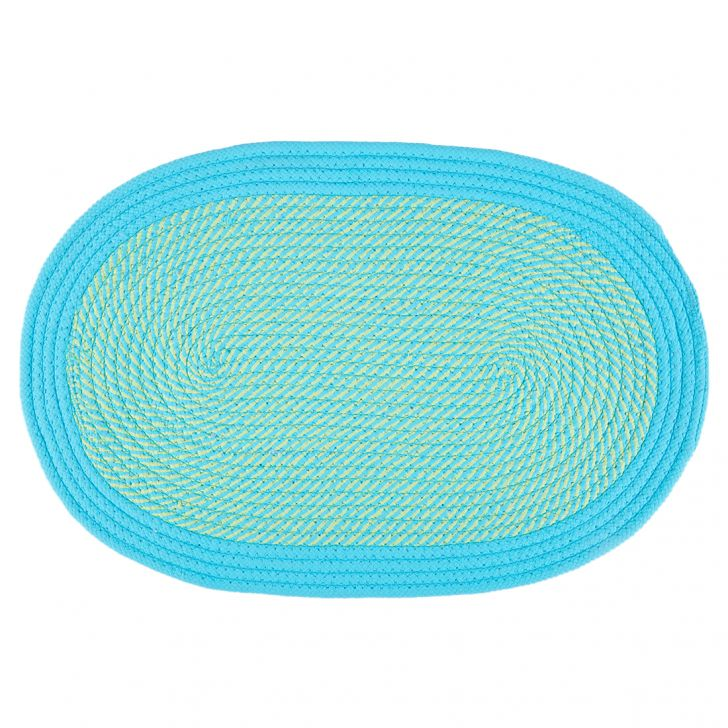 Braided Polypropylene Door Mats in Citron Colour by Living Essence