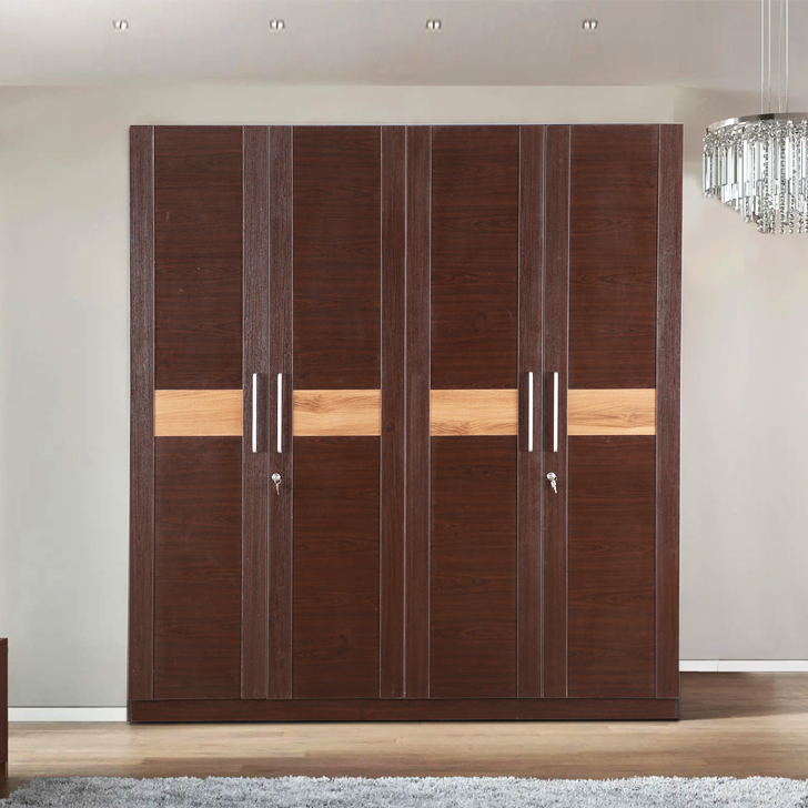 Magnum Engineered Wood Four Door Wardrobe in Vermount Colour by HomeTown