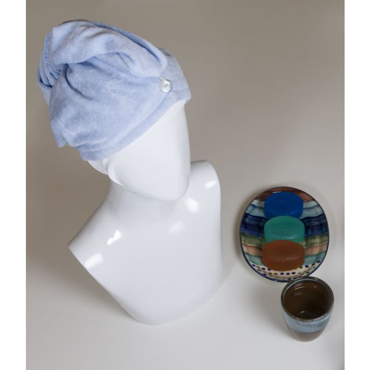 Spaces Turbie - Enrobe Country Blue Cotton Head Towel