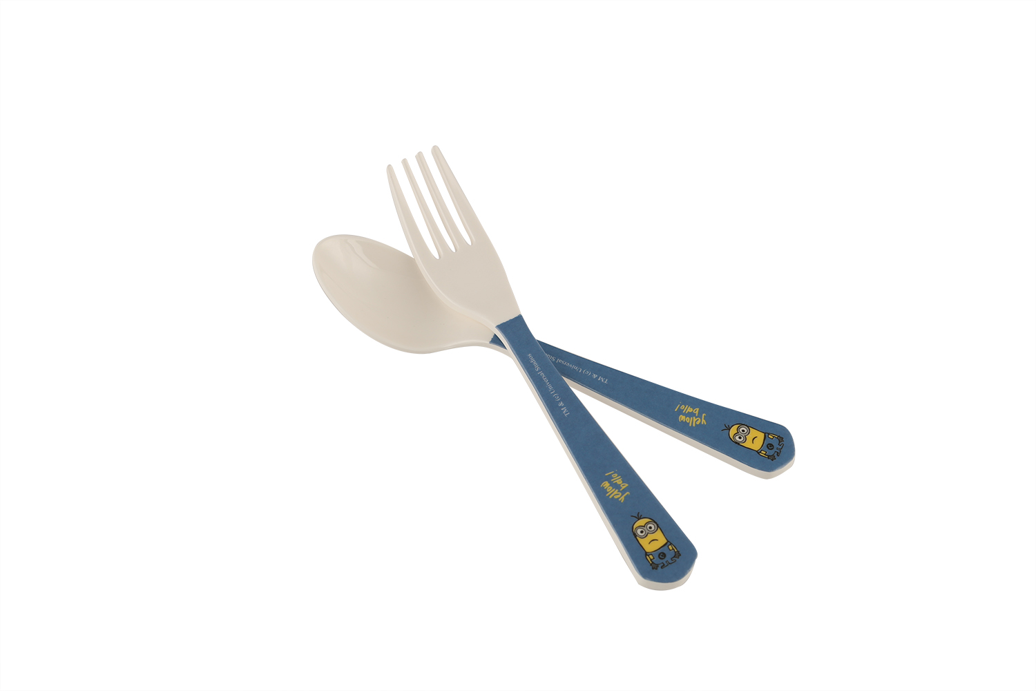 Fork & Spoon Set 2-Minions Forks in Multicolor Colour by Servewell