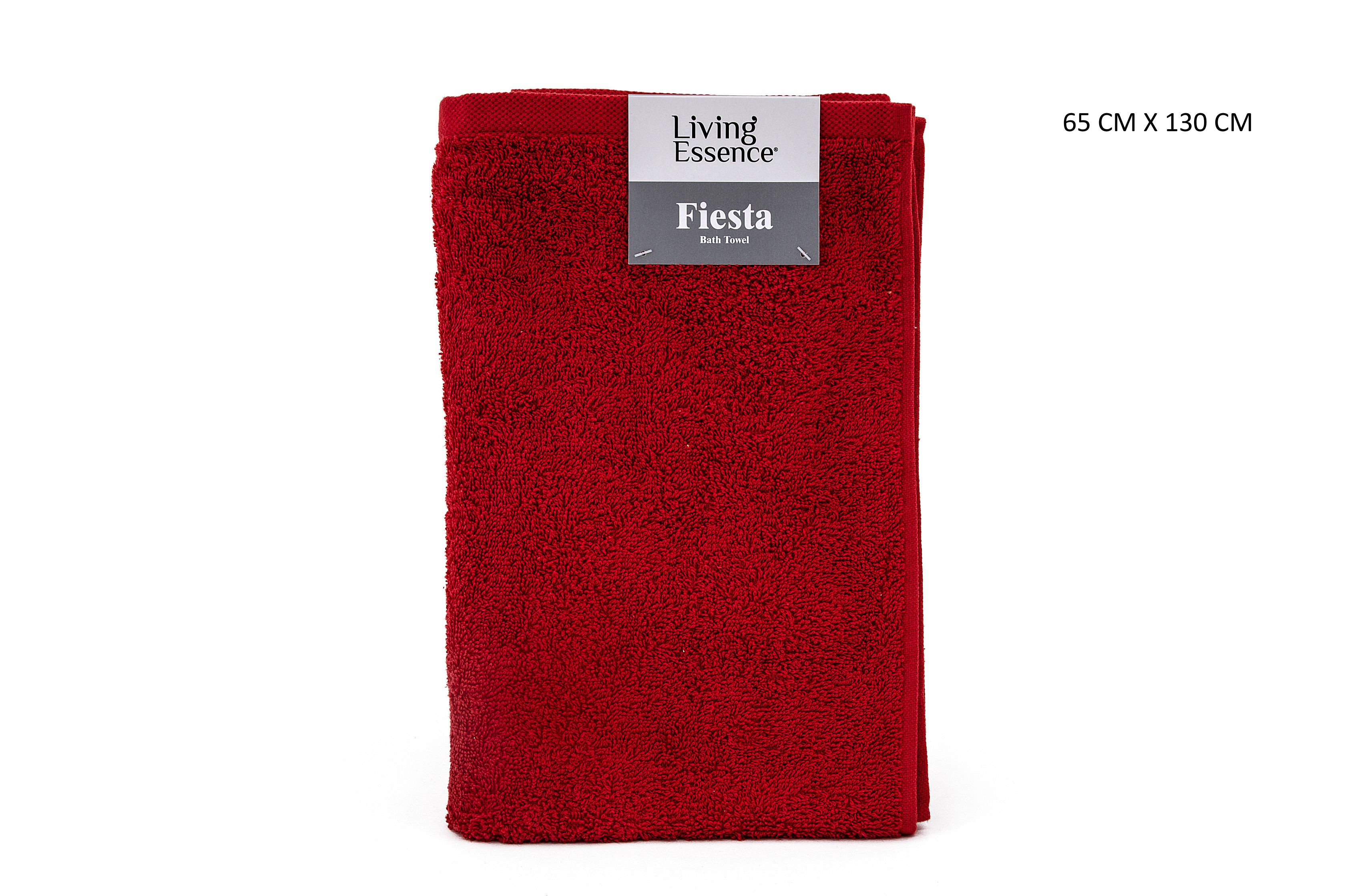 Fiesta Bath Terry Towel Cotton Bath Towels in Red Colour by HomeTown