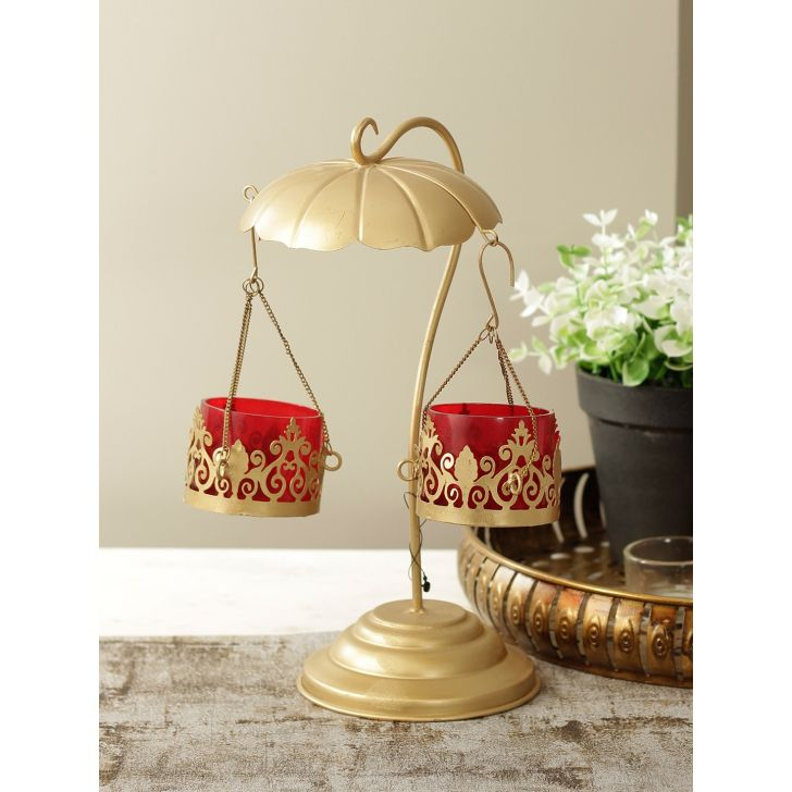Divine Metal Accent in Red Gold Colour by HomeTown