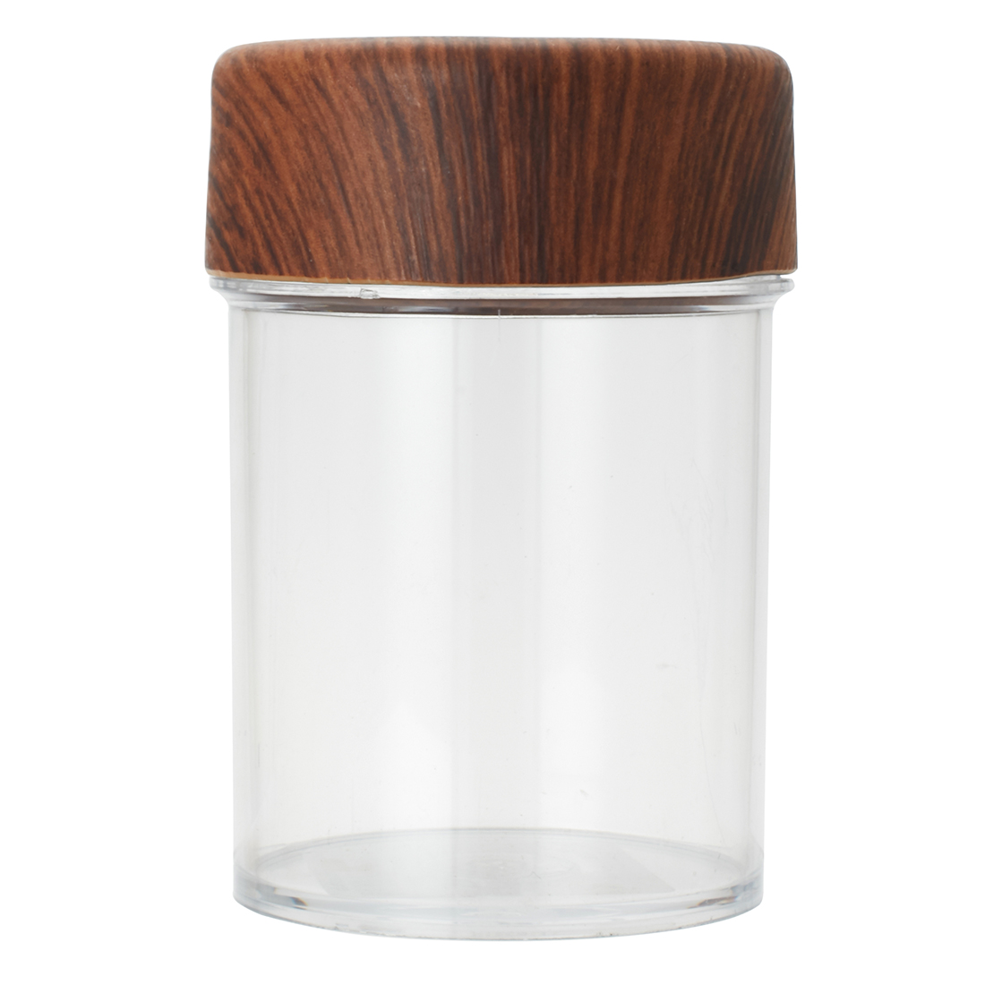 Oak Round Jar 0.5 Lt Plastic Containers in Brown Colour by Living Essence