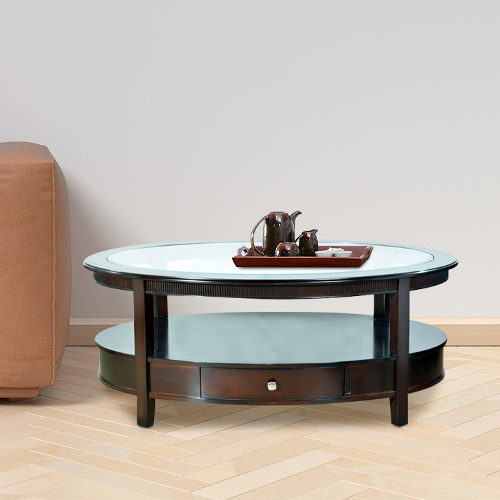 Zina Solid Wood Center Table in Brown Colour by HomeTown