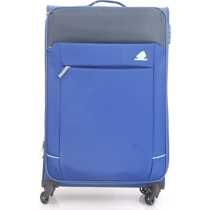 Motivo Clx 79 cm Polyester Soft Trolley in Blue Colour by Kamiliant