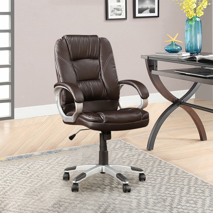 Emperor Fabric Office Chair in Brown Colour by HomeTown