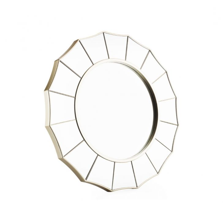 Mirage Rhombus Mirror Micro Fibre Small Wall Accents in Gold Colour by Living Essence