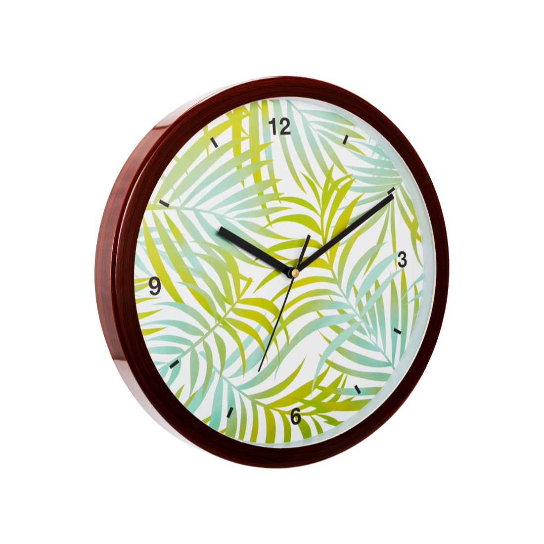 Aika Tropical Branch Palm Leaf Clock Plastic Modern Clocks in Green Colour by Living Essence