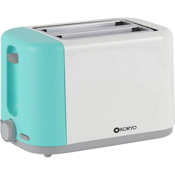 2 Slice Pop-Up Toaster (750 W) - Blue & White by Koryo