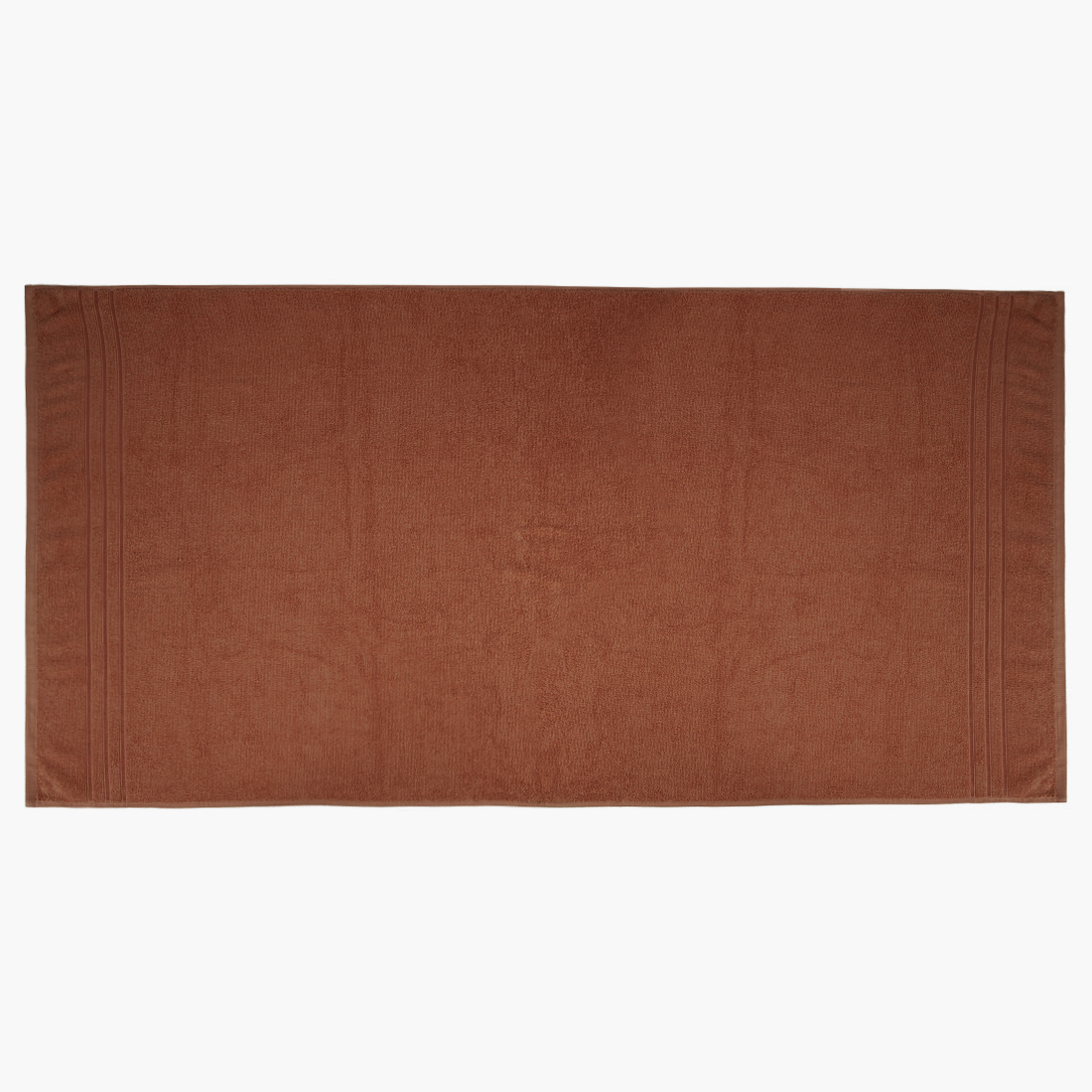 Bath Towel Nora Brown Cotton Bath Towels in Brown Colour by Living Essence