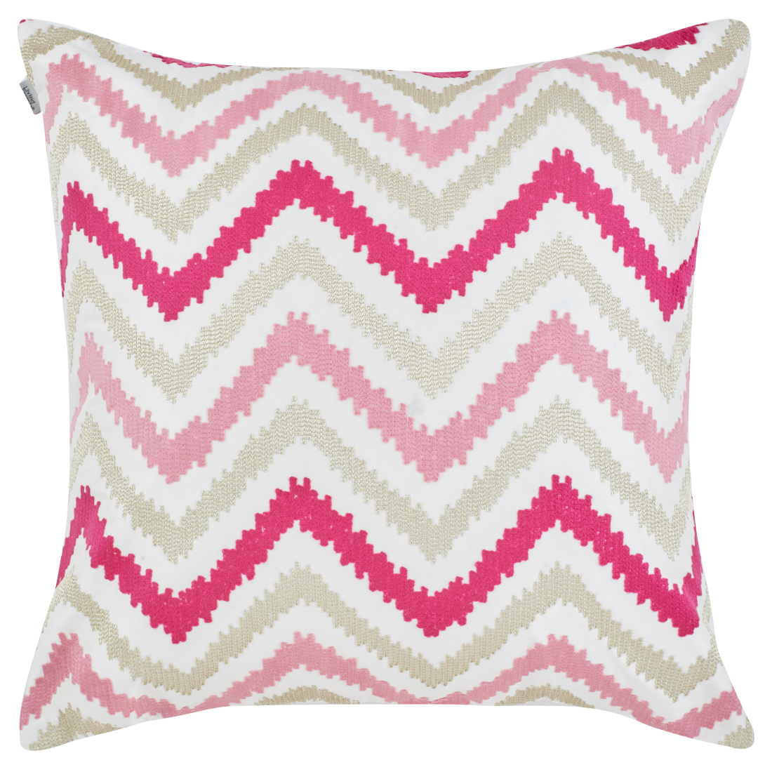 Palace Life Chevron Polyester Cushion Covers in Pink Colour by Living Essence