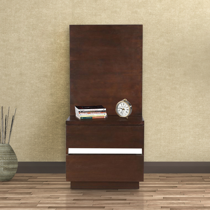 Empire Engineered Wood Bedside Table in White Colour by HomeTown