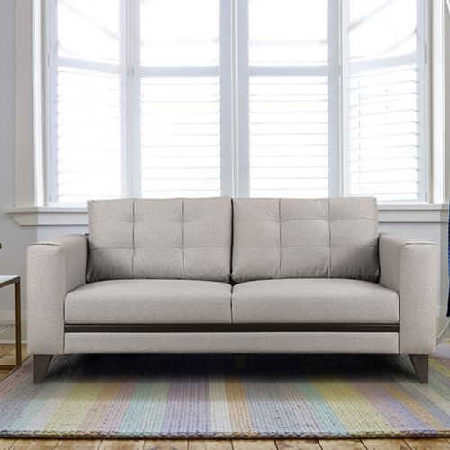 Buy Garcia Fabric Three Seater Sofa In Grey Colour By Hometown