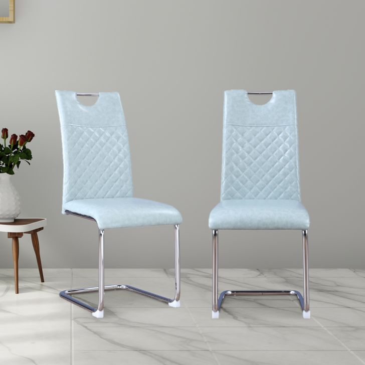 Garfield PVC Dining Chair Set of Four in Sage Colour by HomeTown
