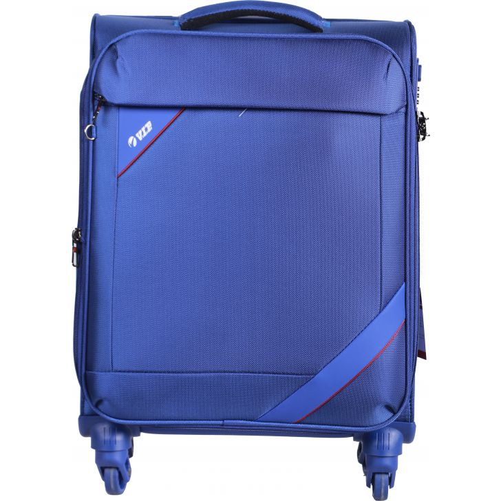 Luggage & Trolley Bags Nylon Soft Trolley in Blue Colour by VIP