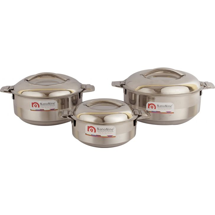 Living essence Stainless steel Casserole in Steel Colour by Living Essence