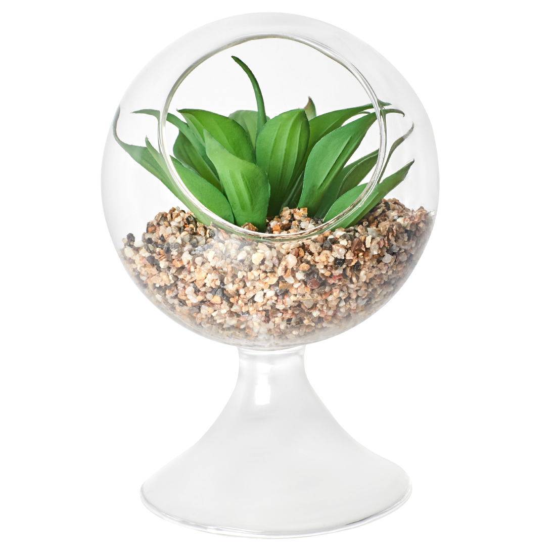 Stark Plant In Glow Stand Small Artificial Plants in Transparent Colour by Living Essence