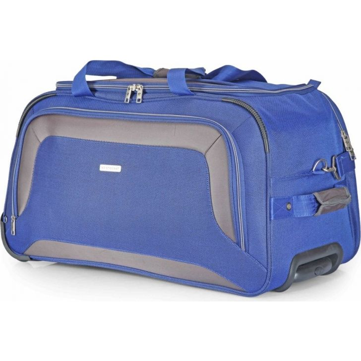 Crysta 67 cm Polyester Duffle on Wheel in Blue Colour by Aristocrat