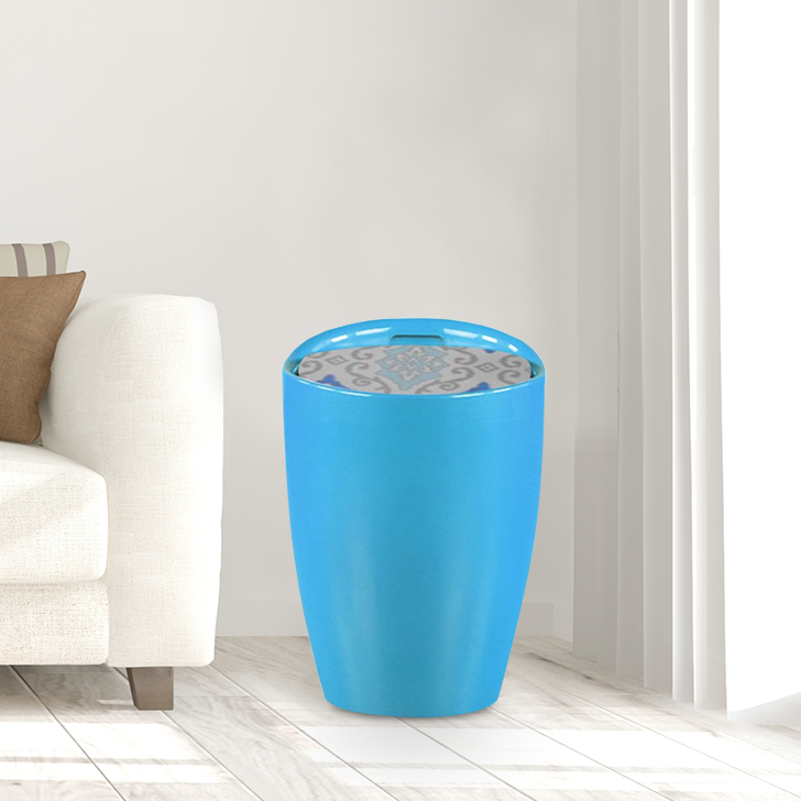 Luna ABS Ottomans and Pouf in Printed Teal Colour by HomeTown