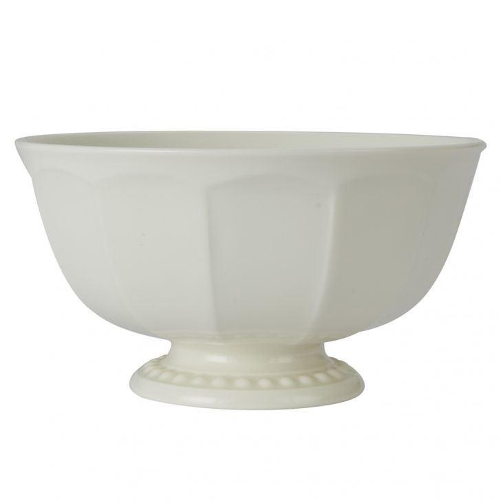 Florence Cereal Bowl Ceramic Serving Bowls in White With Gold Line Colour by Living Essence