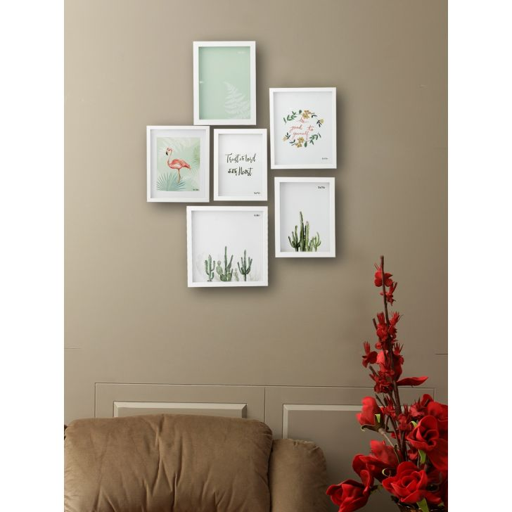 Vista Plastic Photo Frame in White Colour by HomeTown