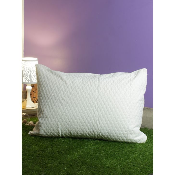 . Polyester Pillow Protectors in White Colour by Living Essence
