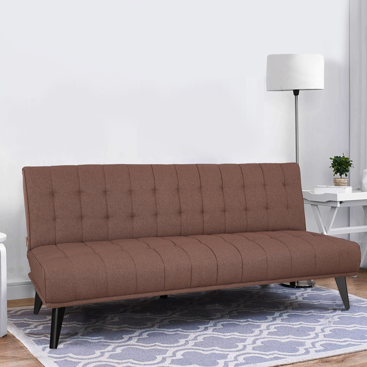 Willis Fabric Sofa Cum Bed in Brown Colour by HomeTown